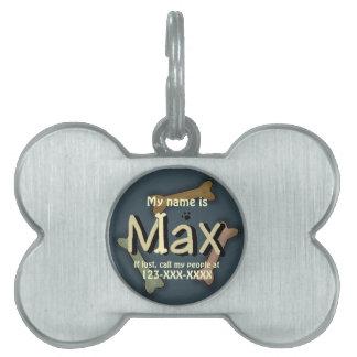 Max Dog ID Pet Tag