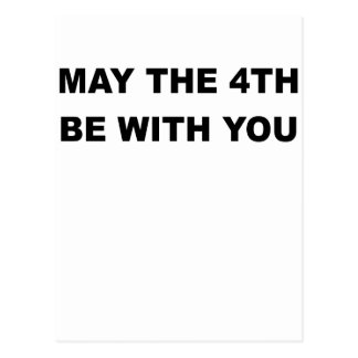 MAY THE 4TH BE WIT YOU.png Postcard