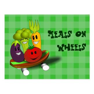 Meals on Wheels Recipe Card Postcard