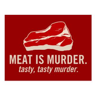 Meat is Murder, Tasty Murder Postcard