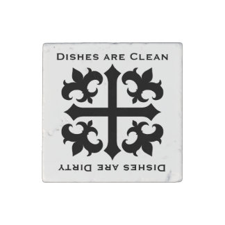 Medieval dishes sign stone magnets