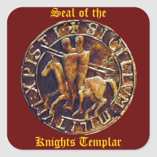 Medieval Seal of the Knights Templar Square Sticker