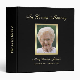 Memorial Remembrance Books - Personalized Binder