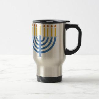 Menorah 15 Oz Stainless Steel Travel Mug