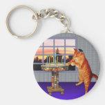 Menorah Cat Basic Round Button Keychain