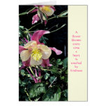 Merci - gentillesse de fleurs carte de vœux