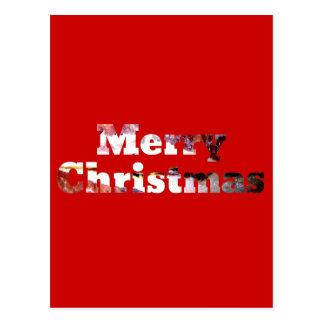 Merry Christmas Bacon Print Postcard