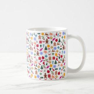 Merry Christmas Print Classic White Coffee Mug