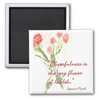 Message Magnet with Japanese Proverb