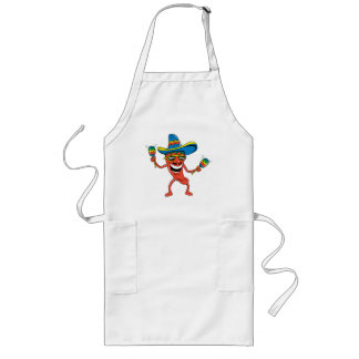 Mexican Chili Pepper Long Apron