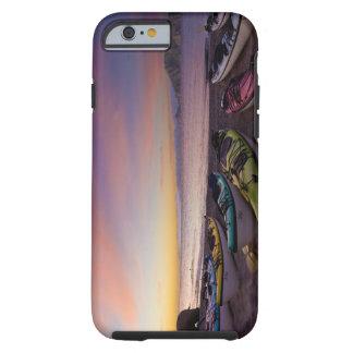 Mexico, Baja, Sea of Cortez. Sea kayaks and Tough iPhone 6 Case