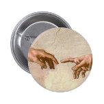 Michelangelo Creation of Adam 2 Inch Round Button