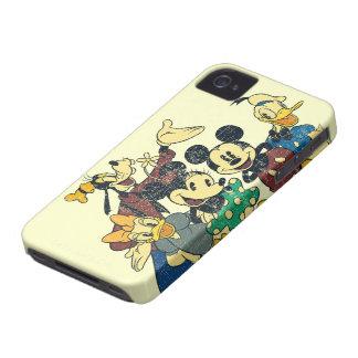 Mickey & Friends | Vintage Hug iPhone 4 Cases