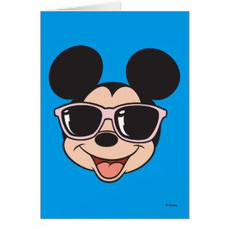 Mickey | Mickey Smiling Sunglasses Greeting Card