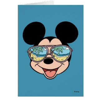 Mickey | Mickey Tropical Sunglasses Greeting Card