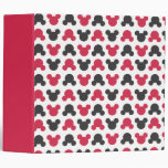 Mickey Mouse   Black and Red Pattern Vinyl Binders