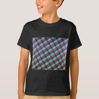 Microstructure d'affichage à cristaux liquides t-shirts