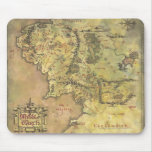 Middle Earth Map Mouse Pad