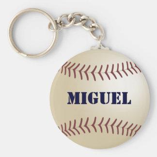 Miguel Baseball Keychain by 369MyName