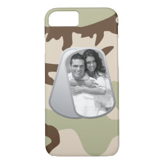 Military Dog Tags and Camouflage Pattern iPhone 7 Case