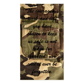 Military Thank You Cards Business Card