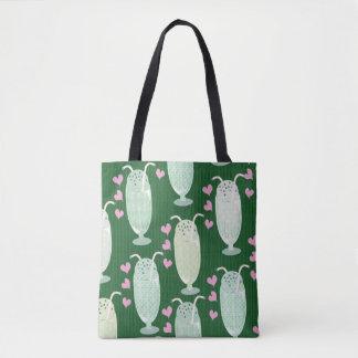 Milkshake Madness on Green Tote Bag