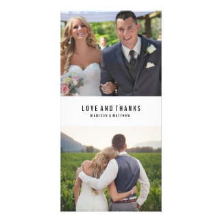 Minimal Collage | Wedding Thank You Photo Card