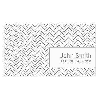 Minimal Thin Zigzag Professor Business Card