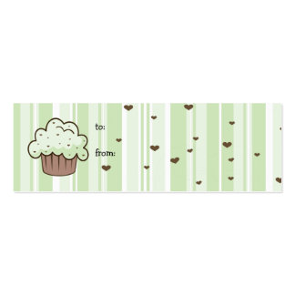 Mint Chip Gift Tag Mini Business Card