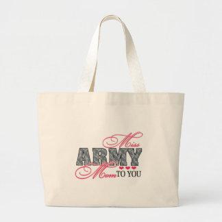 Miss Army Mom Jumbo Tote Bag
