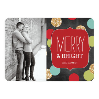 "Modern and Bold Christmas Photo Cards 5"" X 7"" Invitation Card"