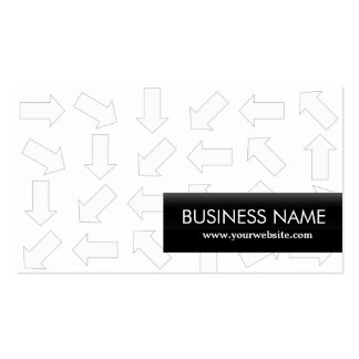 Modern Arrow Patterns Professor Business Card
