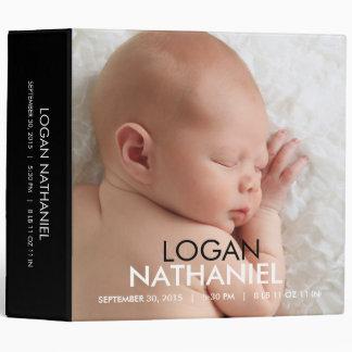Modern Baby Photo Album - Black Vinyl Binder