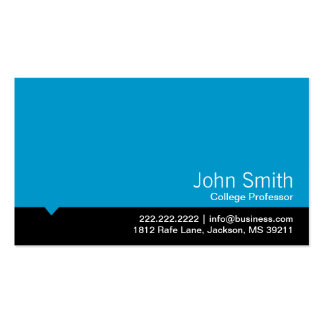 Modern Black Bar Professor Business Card