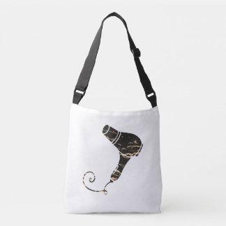 Modern Black & Gold Hair Dryer Art Tote Bag
