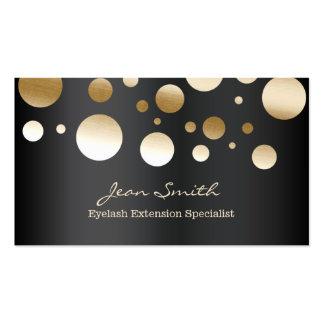 Modern Gold Confetti Dots Eyelash Extensions Business Card