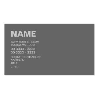 Modern Gray Business Card