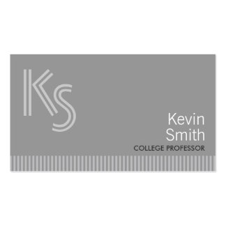Modern Monogram Professor Business Card