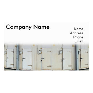 Modern Refrigeration and Freezer Storage Facility Business Card
