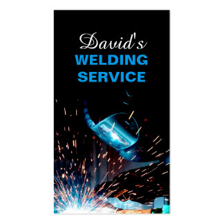 Modern Welding Service and Metal Fabrication Photo Business Card