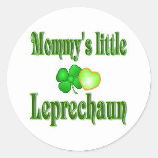 Mommy's Little Leprechaun Gifts Round Sticker