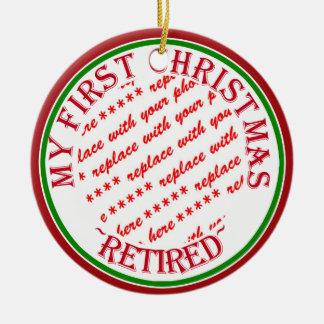 Mon cadre de photo retiré premier par Noël Ornement Rond En Céramique