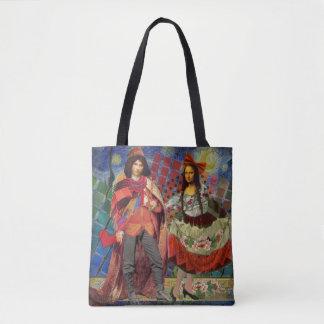 Mona Lisa Funny Vintage Whimsical Collage Tote Bag