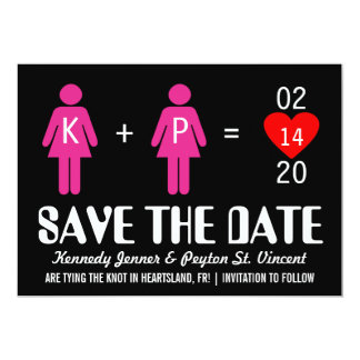 "Monogram Love Couple Save the Date Cards 5"" X 7"" Invitation Card"