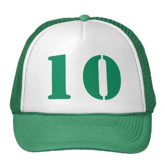 Monograma d'ordre personnel dans nombre 10 blanc casquettes de camionneur