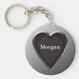 Morgan Heart Keychain by 369MyName