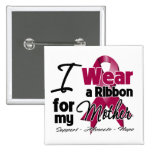 Mother - Multiple Myeloma Ribbon 2 Inch Square Button