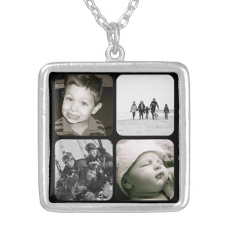 Mother's Children Photo Collage Necklace