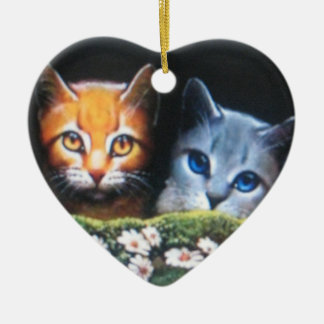 Mothwing and Willow pelt Ceramic Heart Ornament
