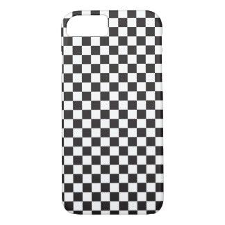 Motif de damier noir et blanc coque iPhone 7